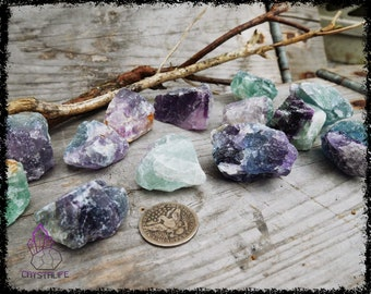 RAW FLUORITE CRYSTAL | Large | Crystal Grid | Gemstone  | Necklace | Jewelry Supplies | Sacred Geometry | Psychic | Crystal Healing
