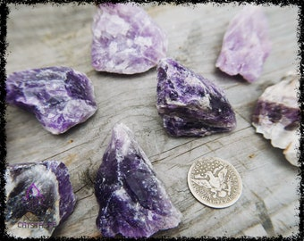RAW AMETHYST CRYSTAL | Large | Crystal Grid | Gemstone  | Necklace | Jewelry Supplies | Sacred Geometry | Psychic | Crystal Healing