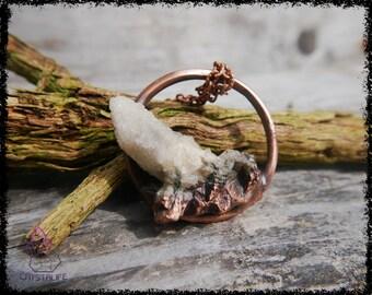 ANGEL SPIRIT QUARTZ Crystal Pendant | Wiccan Jewelry | Larp | Handmade | Electroformed | Copper Jewelry | Raw | Crystal Pendant | Crystals