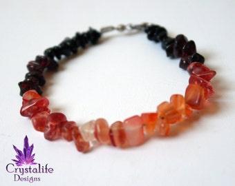 Volcanic Gemstone Bracelet  | Healing | Meditation | Yoga | New Age | Metaphysical | Reiki | Gemstone Jewellery | Gift |