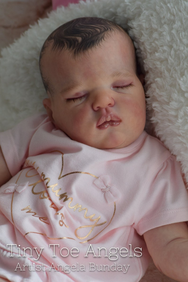 0-3 month sized reborn baby Sweetie Reborn Doll Baby Girl or boy sculpt by bountiful baby. Custom made to order