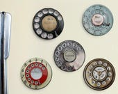 Vintage Telephone Magnets - Retro Phone Magnets, Vintage Phone, 1950 39 s, 1960 39 s, Rotary Phone, Mid-Century Modern, Shabby Chic, Kitchen