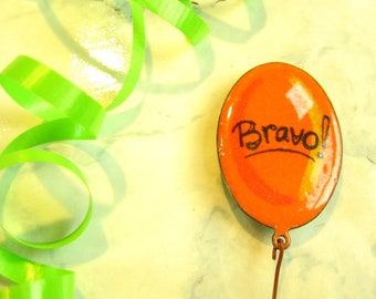 Magnet Fridge Magnet orange, orange balloon, orange ball, balloon, orange balloon, party balloon, bravo