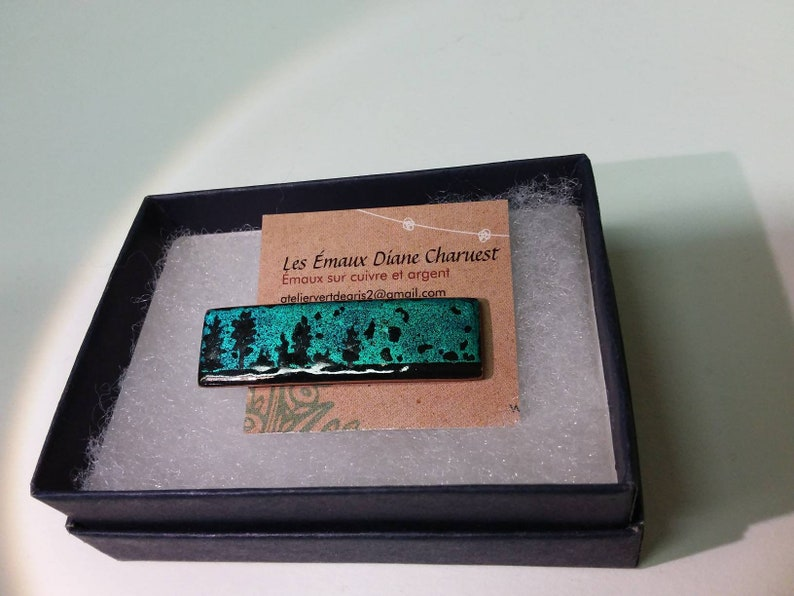 teal. copper enameling trees turquoise Tie clip tie clip trees enamel on copper gift for man