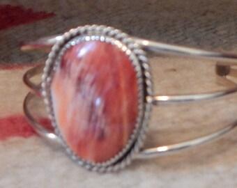 Spiny oyster,  cuff bracelet, southwestern jewelry,  horse, womens,  southwest  jewelry, estate, Sterling silver,  southwest jewelry