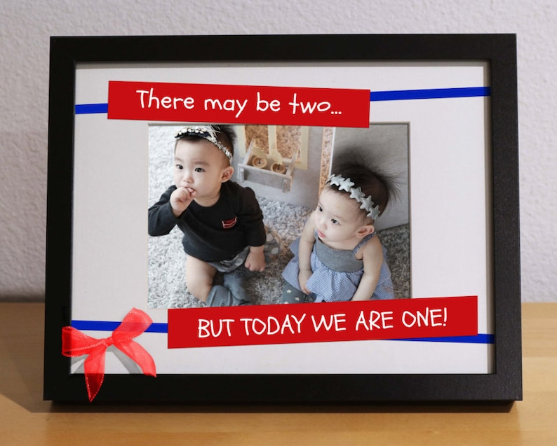 Twins First Birthday Gift TWIN BABY GIFT Customized