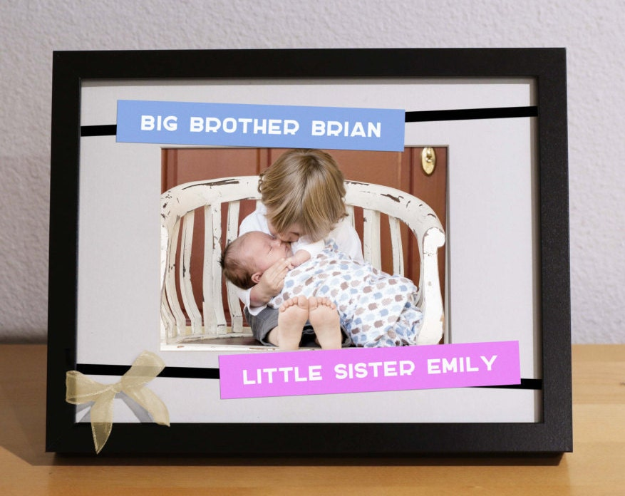 Big Brother Baby Sister Gift BROTHER SISTER FRAME Customized | Etsy