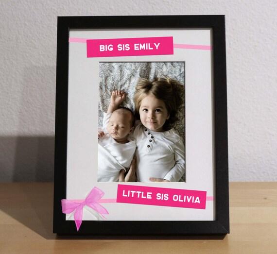 Big Sister Gift, Little Sister Gift, SISTERS PICTURE FRAME, Custom ...