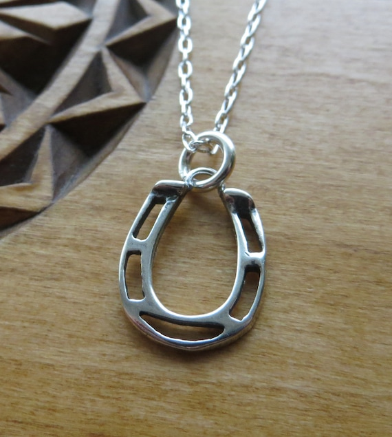 Charm Jewellery Sterling Silver Horseshoe and Pony Pendant