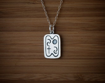 STERLING SILVER Native American Elements, Air, Water, Earth, Spirit - Chain Optional