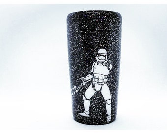 20oz GLITTERED Stormtrooper tumbler