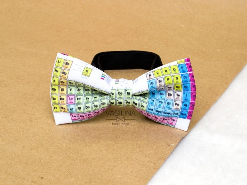 b6e45f207ca8 chemistry bowtie periodic table tie chemical bow tie etsyPeriodic Table Bow  Tie Uk #21