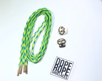 Tropical Round Shoelace (paracord)  with custom color aglets