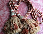 French Vintage Tassels Curtain Tie Backs. Vintage French Curtain Dressing. Beautifully Crafted Set of Fine Vintage Curtain Tassels.