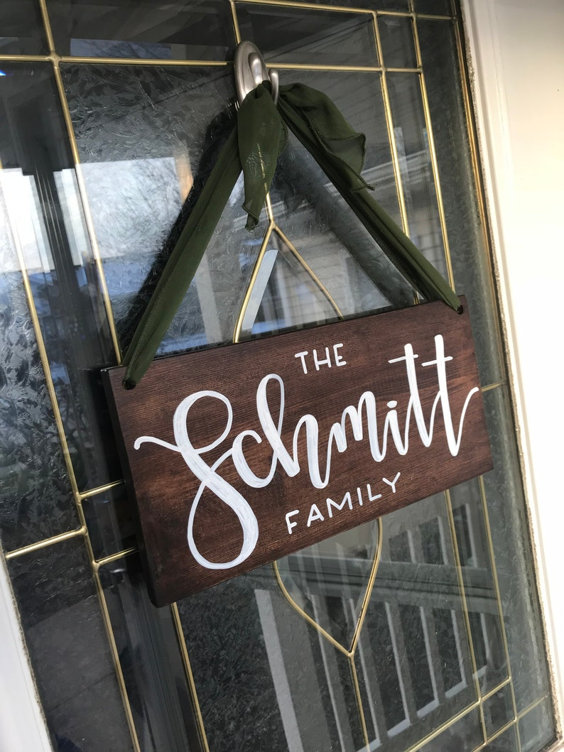 Family Name Hanging Sign image 0