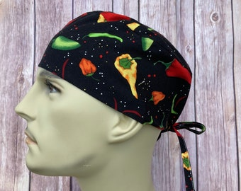 Details about  /Hot Peppers Skull Cap Hat Surgical Cap Hat