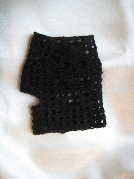 Guantes sin dedos mitones calavera ganchillo crochet lana | Etsy