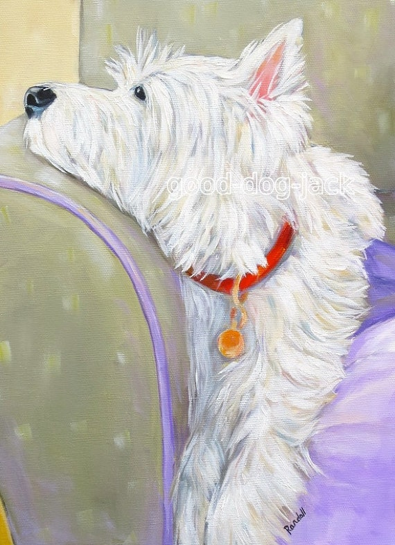 Good Dog Jack Denise Randall Westie Artist Trading Card West Highland Terrier ACEO WESTIE PRINT Painting I found it!