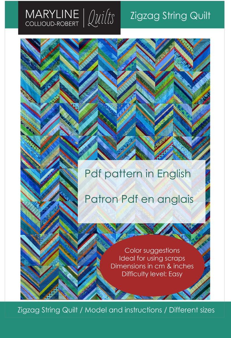 Zigzag String Quilt Pattern image 0