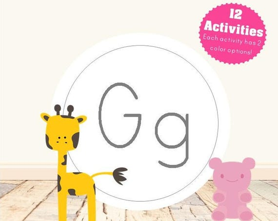 Letter G Alphabet Letter Learning Pack
