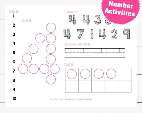 Numbers 1-10 Activity Set