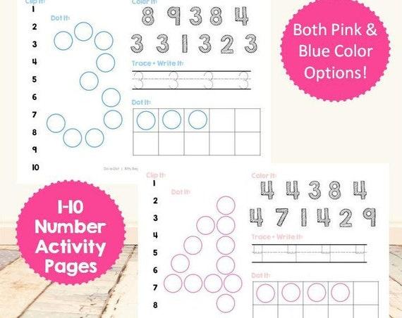 Numbers 1-10 Activity Set