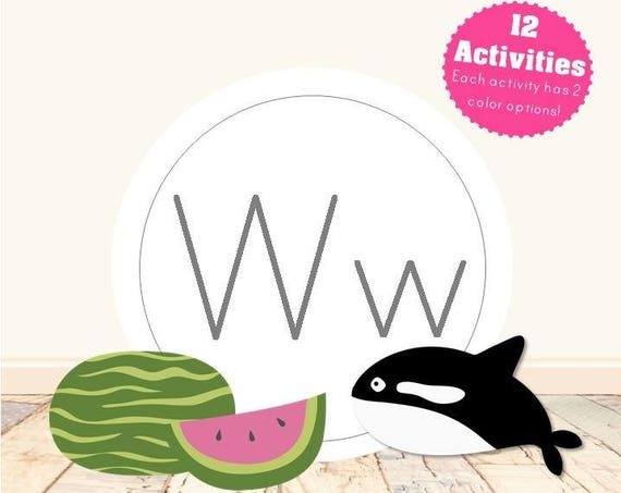 Letter W Alphabet Letter Learning Pack
