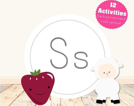 Letter S Alphabet Letter Learning Pack