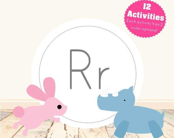 Letter R Alphabet Letter Learning Pack