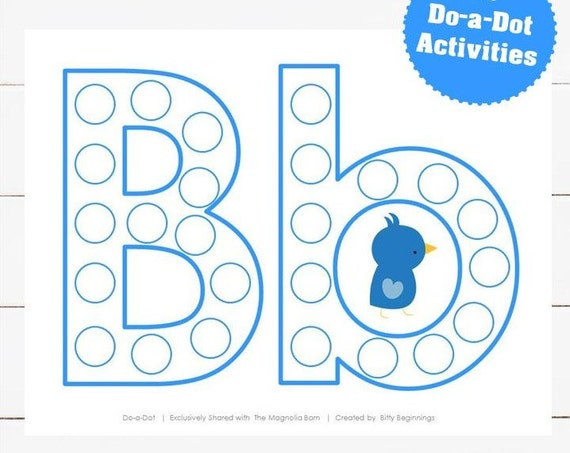 A-Z Do-a-Dot Set - Blue