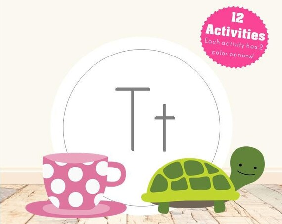 Letter T Alphabet Letter Learning Pack