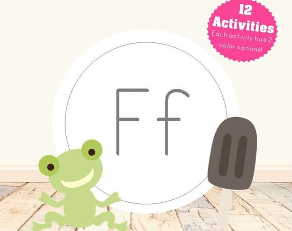 Letter F Alphabet Letter Learning Pack