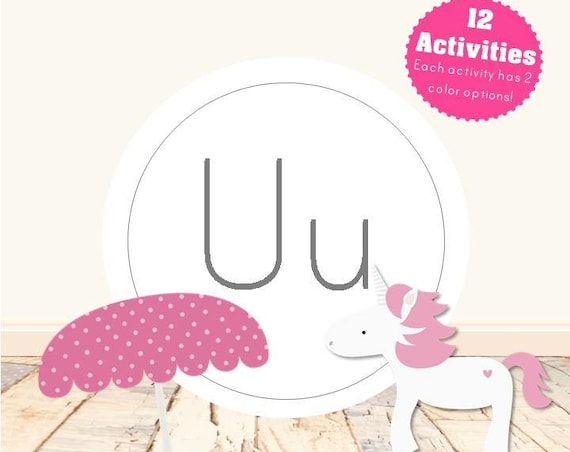 Letter U Alphabet Letter Learning Pack