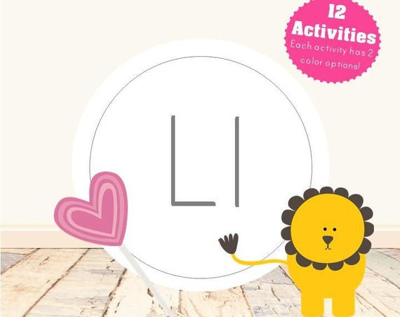 Letter L Alphabet Letter Learning Pack