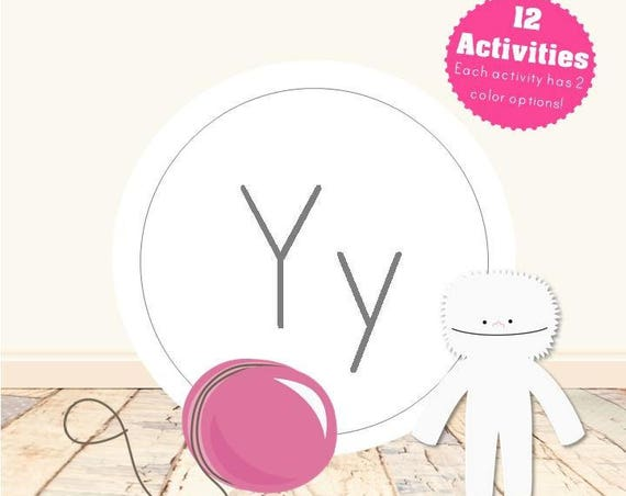 Letter Y Alphabet Letter Learning Pack