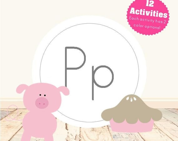Letter P Alphabet Letter Learning Pack