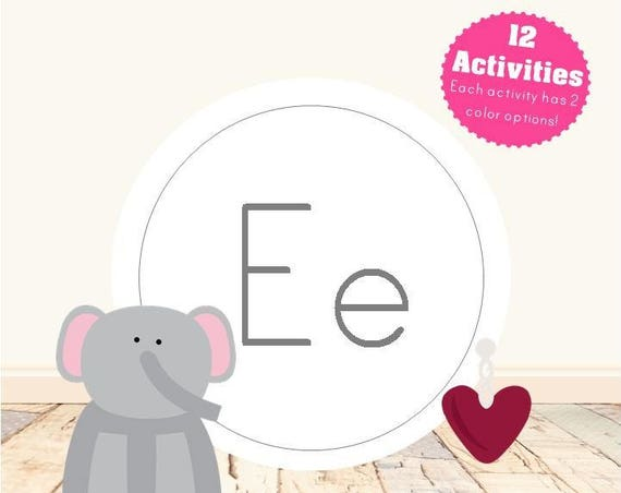 Letter E Alphabet Letter Learning Pack