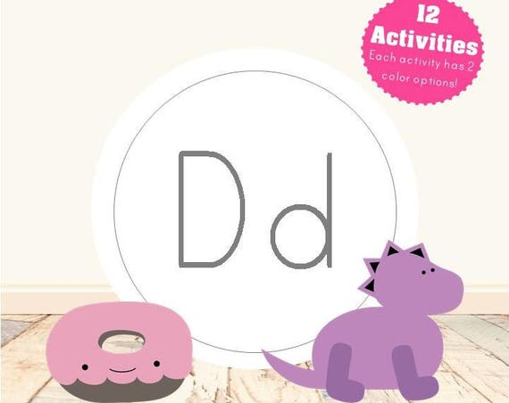 Letter D Alphabet Letter Learning Pack