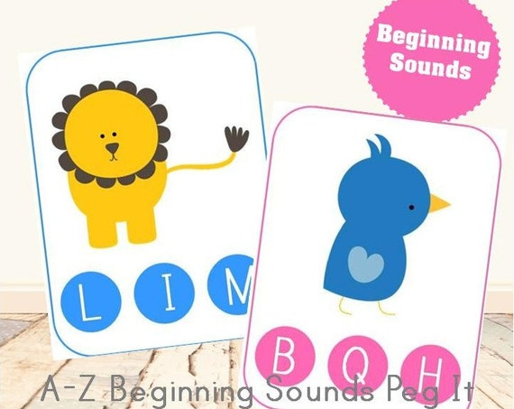 A-Z Beginning Sounds Peg It