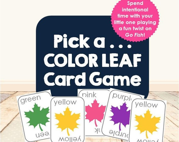 Pick a Color Leaf Card Game | Go Fish | Gameschooling | homeschool game | colors | autumn leaves | early learning | morning basket