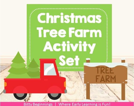 Christmas Tree Farm Activity Set