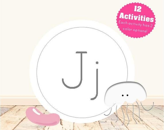 Letter J Alphabet Letter Learning Pack