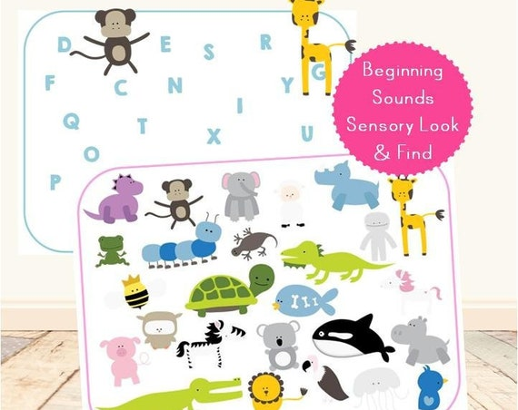 A-Z Beginning Sounds Sensory Look & Find