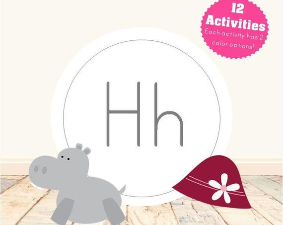 Letter H Alphabet Letter Learning Pack