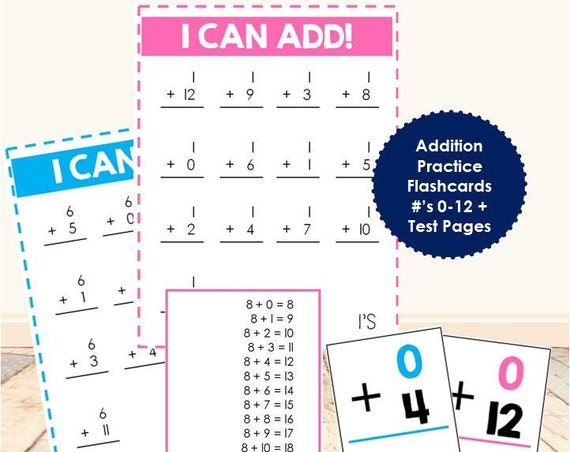 Math Facts - I Can Add