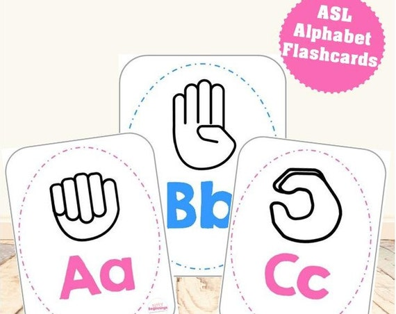 ASL Alphabet Flashcards