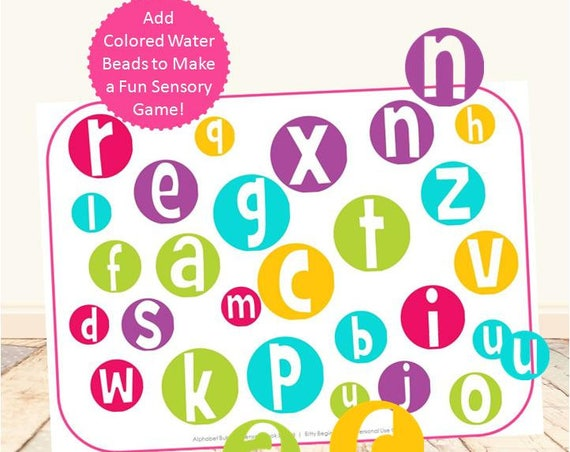 Letter Bubbles Sensory Look & Find
