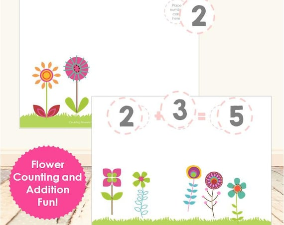 Flower Counting & Addition Set