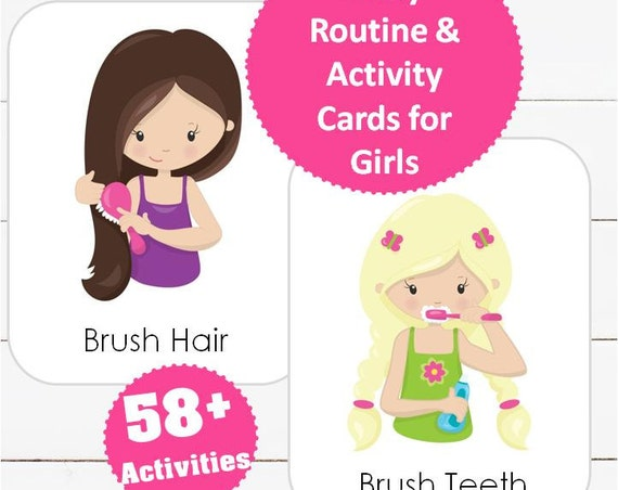 Daily Routine & Activity Cards for Girls