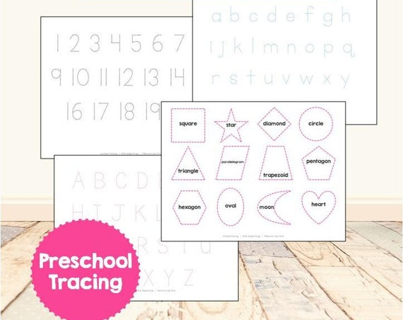 Letter, Number, & Shape Tracing